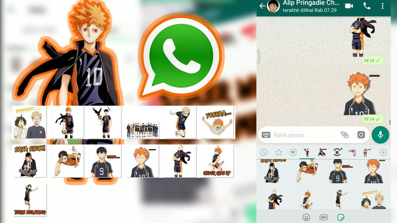 Stiker Whatsapp Anime Haikyuu Link Download Png Youtube