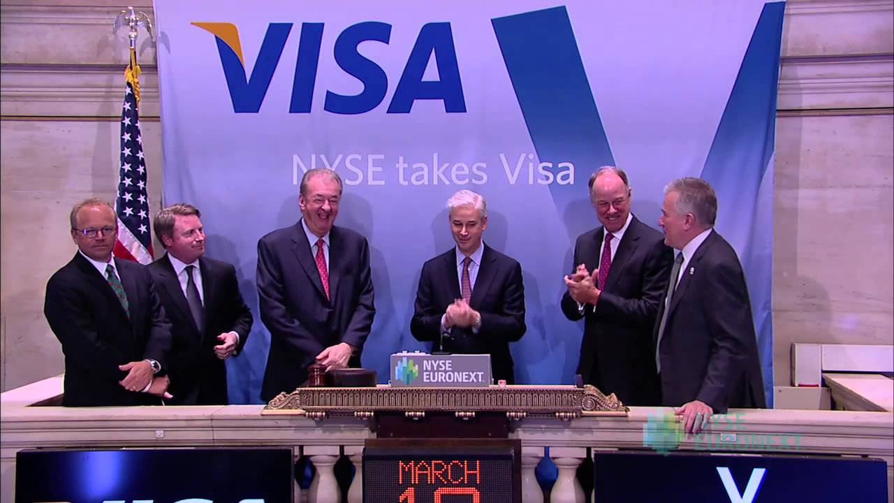 Visa Celebrates Five Years of Trading on the NYSE