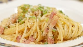 Spaghetti Carbonara (Japanese-inspired Pasta Recipe) 和風カルボナーラ 作り方 レシピ