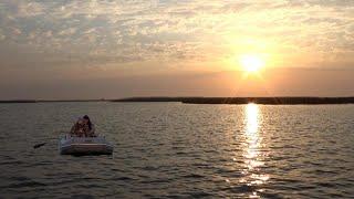 Разведка на Щуку в марте с лодки на Веселовском водохранилище