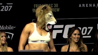 Ronda Rousey vs. Amanda Nunes UFC 207 Main Card Weigh-in