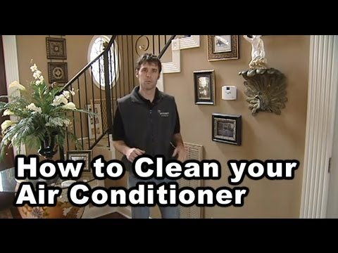 how to clean an air conditioner unit youtube. Black Bedroom Furniture Sets. Home Design Ideas