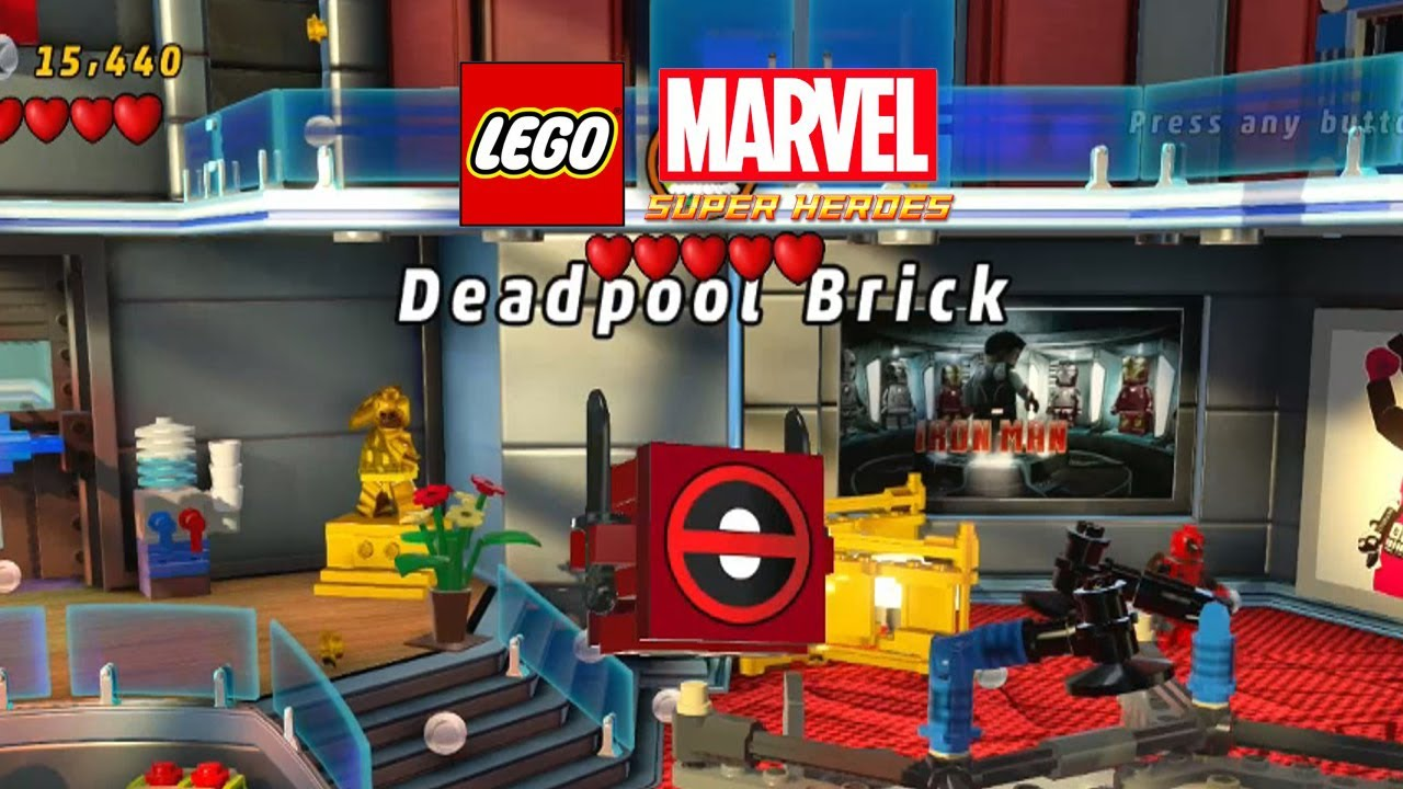 marvel lego deadpool bricks