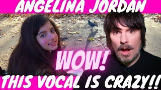 PRO SINGER'S first REACTION to ANGELINA JORDAN - AUTUMN LEAVES