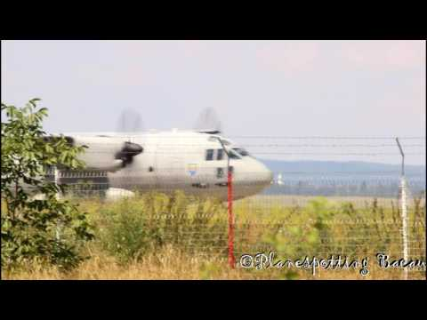 2706 Romanian Air Force Alenia C-27J Spartan taxiing at Bacau Air Base with nice turboprop sound