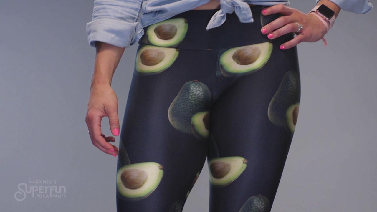 7e69074dd073a Superfun Yoga Pants | Black Leggings with Avocados | Goldsheep made in USA