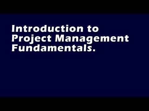 Introduction to Project Management Fundamentals