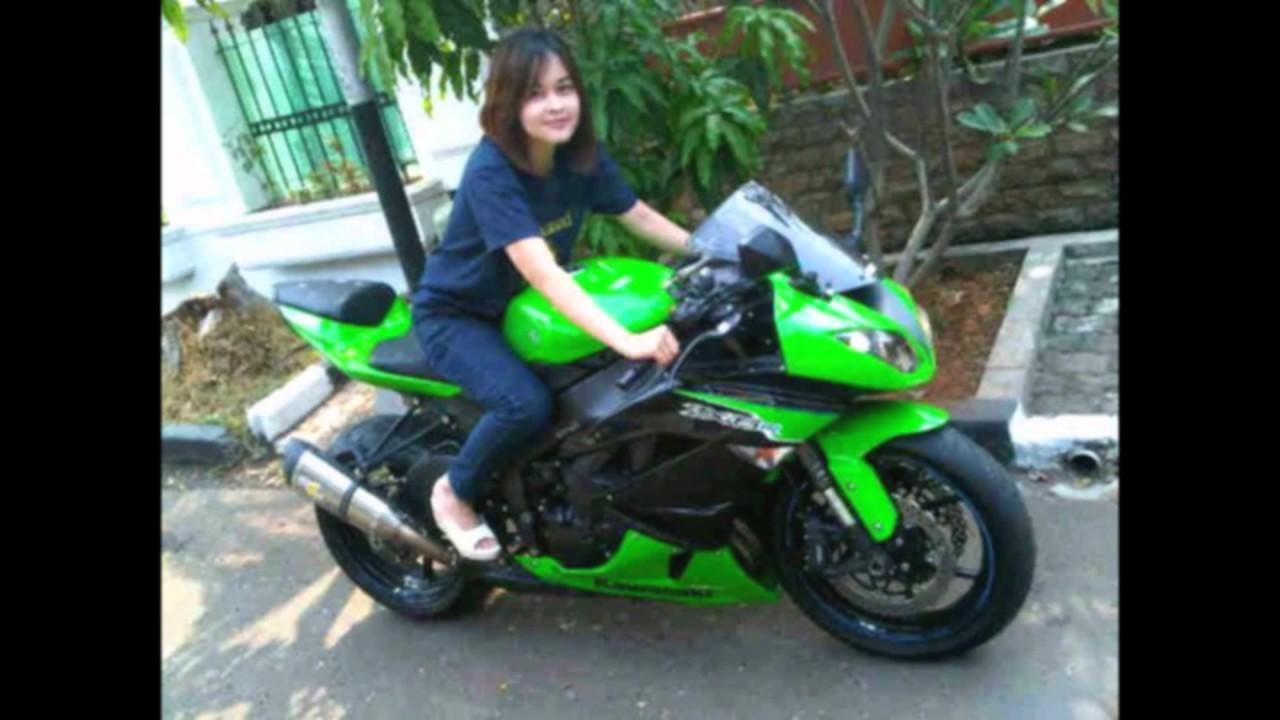 Cewek Naik Motor Kawasaki Ninja 250 YouTube