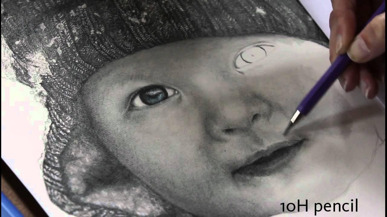tijn portrait in graphite drawing skin youtube