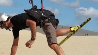 Dune du Pilat Sandskifahren Funny Paragliding