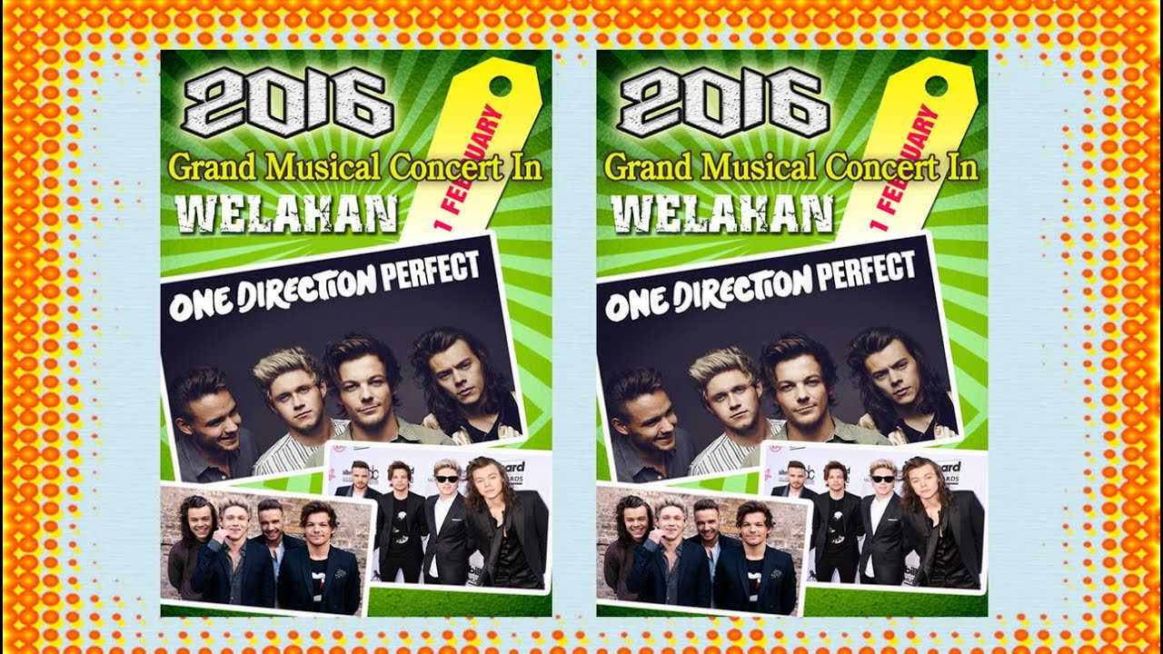 how to make music concert poster design in photoshop one direction