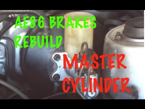 how to rebuild your car brakes 3 3 brake master cylinder corolla rh youtube com AE86 Interior AE86 Front Suspension