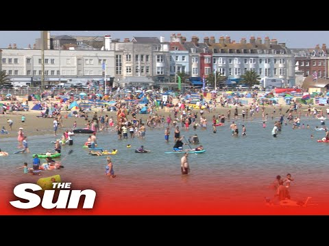 UK beaches packed on hottest day of 2020 despite pleas to stay at home due to coronavirus pandemic