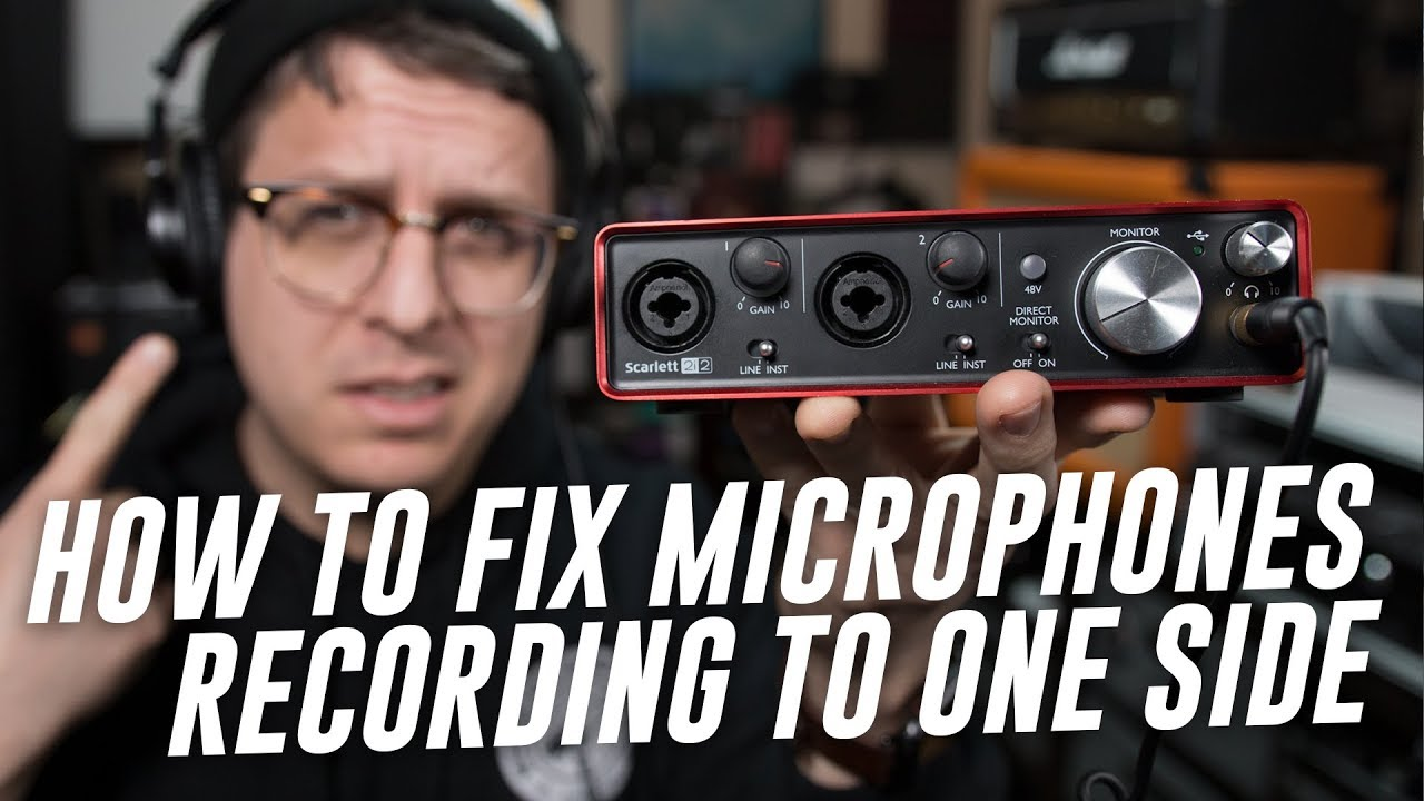 Microphone Only Recording Left Channel, Solution (FAQ Series)