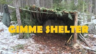 Building a Long-Term Survival Shelter Using Your Natural Resources. Bushcraft!
