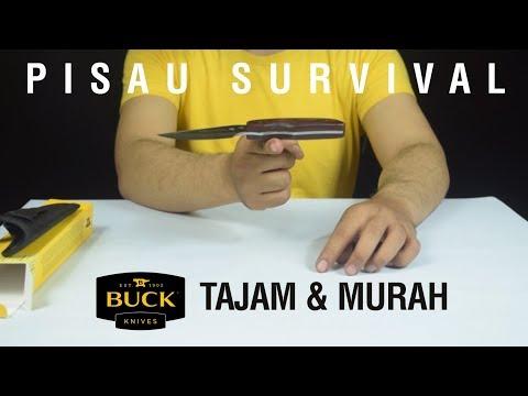 Pisau Outdoor Murah Dan Berkualitas - Cocok Untuk Camping - Buck Bushcraft Knife