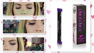 Vamp Stamp Winged Liner Stamp | Demo of Kitten, Medium & Large | Giveaway