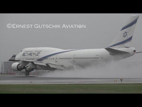 El Al Israel Boeing 747-400 Charter Arrival And Departure   Toronto Pearson Int'l
