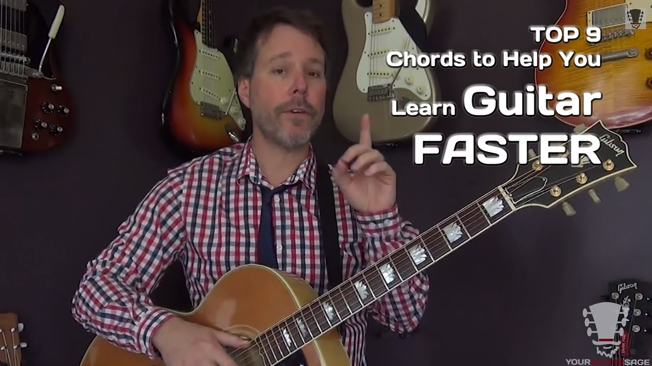 The 9 Essential Chords To Help You Learn Guitar Faster Youtube