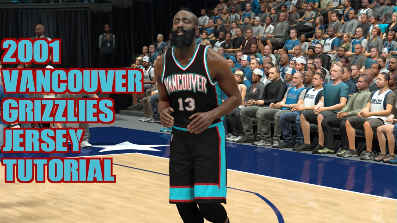 NBA 2K17 2000-01 Vancouver Grizzlies jersey tutorial - YouTube eb1943cb4