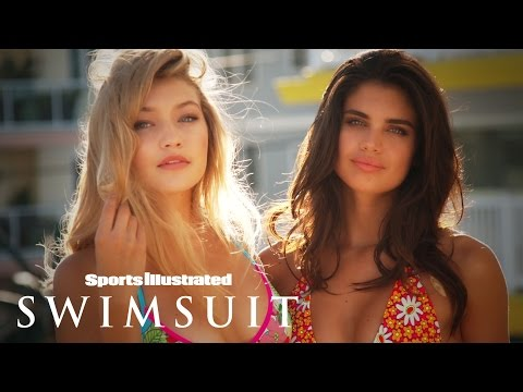 Gigi Hadid & Sara Sampaio's Playful Jersey Shore Shoot | Intimates | Sports Illustrated Swimsuit