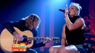 Pink - performs - Who Knew -  live on the today show in sydney
