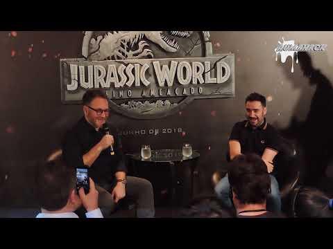 """Coletiva de imprensa de """"Jurassic World: Reino Ameaçado"""""""