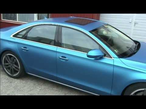 Audi A8 Wrapped 3m Vinyl Matte Blue Youtube