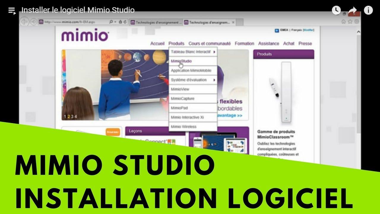 LOGICIEL GRATUIT TÉLÉCHARGER MIMIO STUDIO