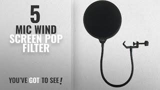 Поп-фільтр мікрофон вітер екрану [2018]: Dragonpad поп-фільтр США студія мікрофон мікрофон вітер екрану поп