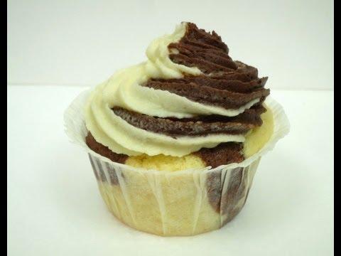 Schoko-Vanille Cupcakes