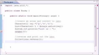 Intermediate Java Tutorial - 10 - Methods reverse and copy
