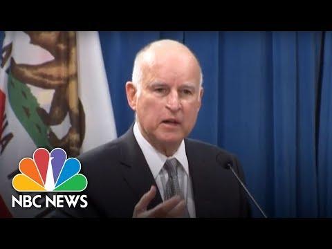 Gov. Brown : DOJ Is 'Basically Going To War' Against California | NBC News