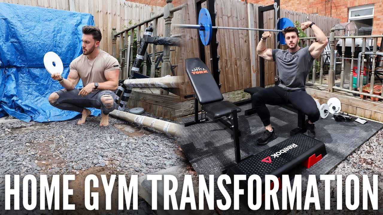 BUILDING THE PERFECT HOME GYM IN MY GARDEN | FULL TRANSFORMATION + NEW PR SQUAT
