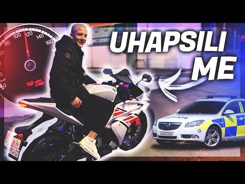BEŽIM OD POLICIJE MOTOROM (UHVATILI ME) ?