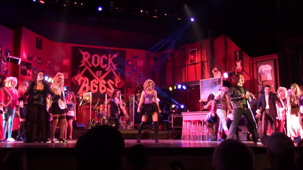 pineville high school: rock of ages-here i go again - youtube