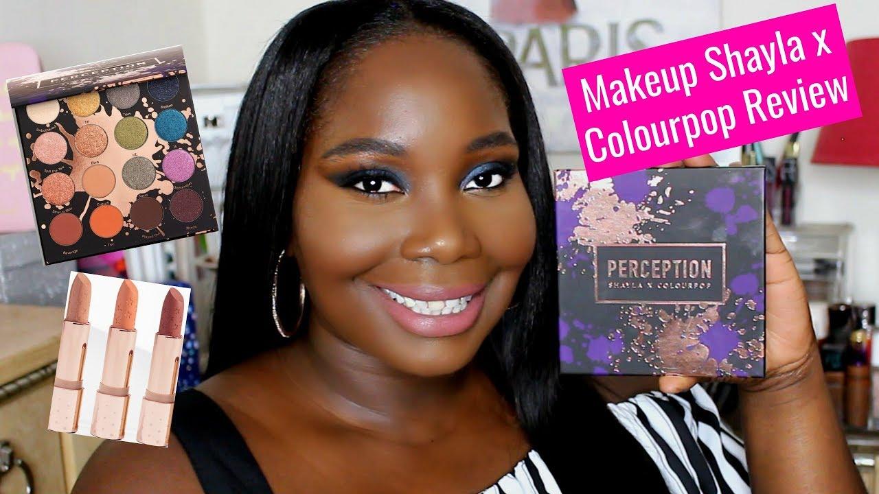 Colourpop X Makeupshayla Eyeshadow Palette Review Tutorial Dark
