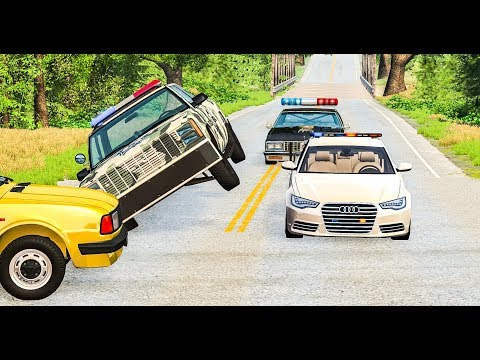 EPIC POLICE CAR CHASES & CRASHES #21 - BeamNG Drive Crashes