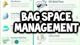 Let's Discuss: BAG SPACE MANAGEMENT IN POKEMON GO!