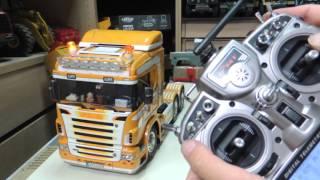 Tamiya Scania R620 +MFC-01+ SMX音效 +砂石尾車 操控方式