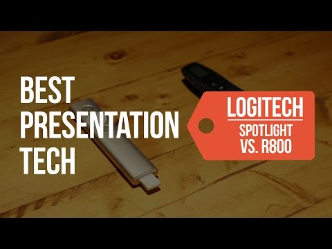 Best Presentation Tech Logitech Spotlight vs  Logitech R800