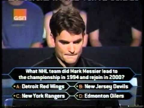 Jeff Gordon on sports superstars Who Wants to be a Millionaire