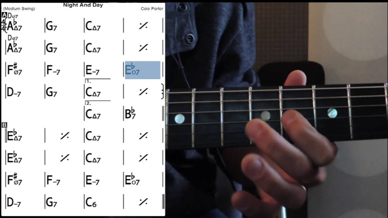 Night And Day Guitar Lessons Tab Melody Youtube