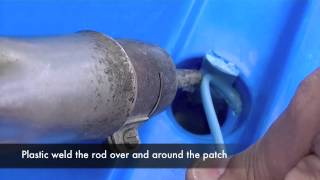 Repairing Scupper Holes -  How to plastic weld a Polyethylene kayak