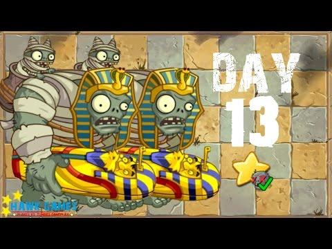 Plants vs. Zombies 2 China - Ancient Egypt Day 13 Last Stand《植物大战僵尸2》- 神秘埃及 13天 - 동영상