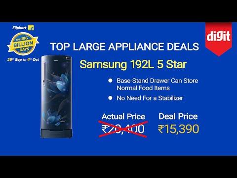 Top Large Appliance Deals On Flipkart Big Billion Days Sale 2019