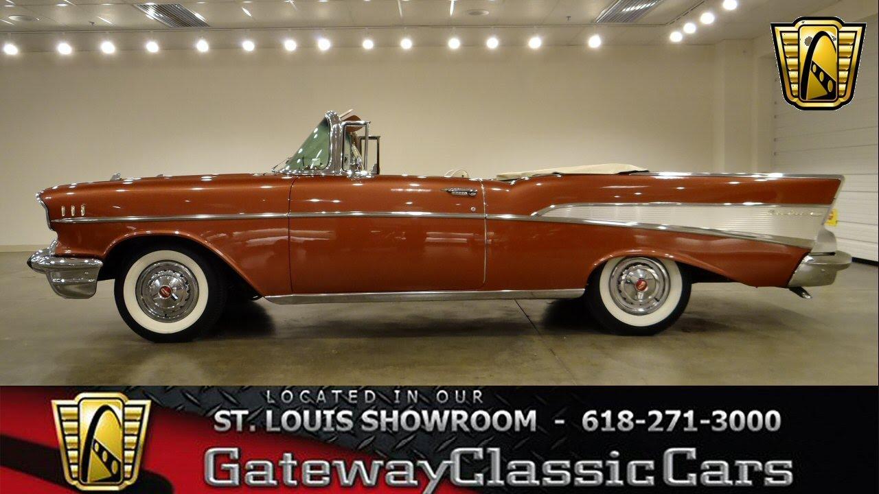 1957 Chevrolet Bel Air Convertible - Gateway Classic Cars St ...