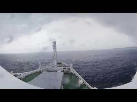 【VR】再噴火後、今の西之島