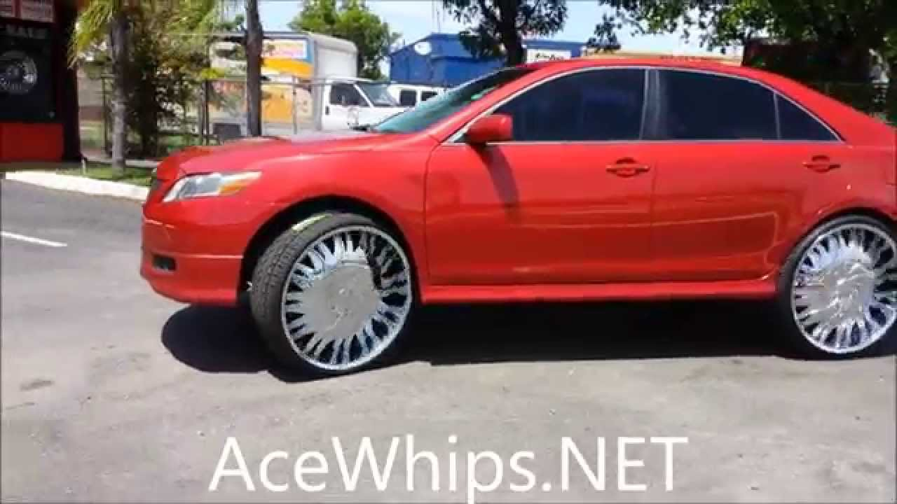 "AceWhips.NET- Female's Toyota Camry on 26"" Starr - YouTube"