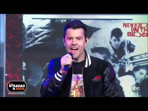 "NKOTB New Kids On The Block Sing ""Step By Step"" Live in Concert Strahan and Sara 2019 HD 1080p"